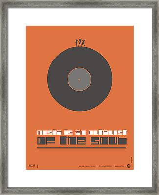 Music Is The Soul Poster Framed Print by Naxart Studio