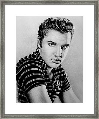 Music Legends Elvis Framed Print by Andrew Read