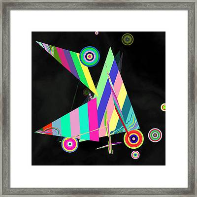 Music Like Abstract Framed Print by GuoJun Pan