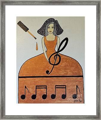 Music Lover Framed Print by Jasna Gopic