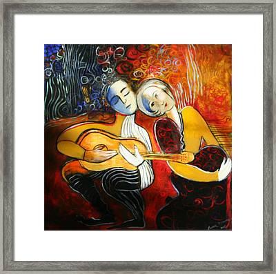 Music Lovers Framed Print