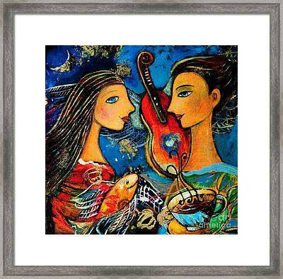 Music Lovers Framed Print by Shijun Munns
