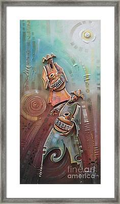 Music Makers Framed Print by Omidiran Gbolade