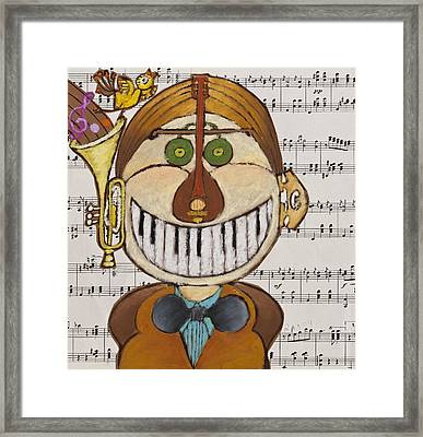 Music Man Framed Print by Semiramis Paterno