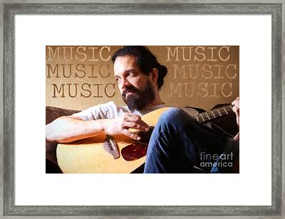 Music Man Framed Print by Sharon Dominick