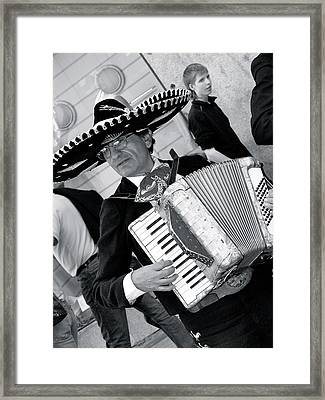 Music-mariachi Accordionist Framed Print