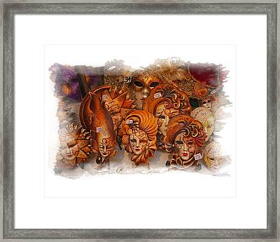Music Masks Framed Print