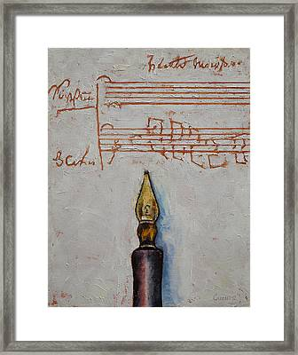 Music Framed Print by Michael Creese