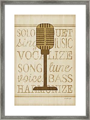 Music Microphone Framed Print by Jennifer Pugh