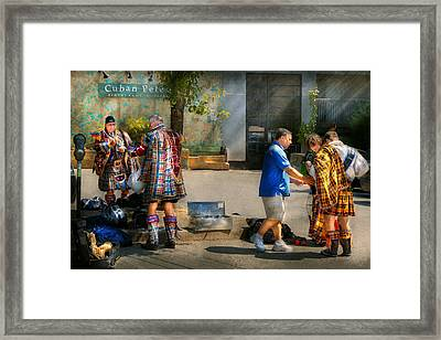 Music - Mummers Preperation Framed Print by Mike Savad
