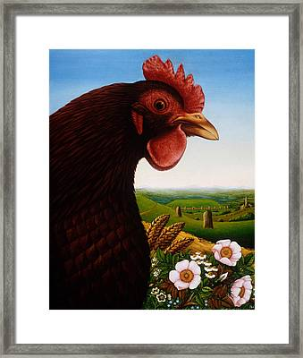 Music Of A Lost Kingdom Big Chicken Framed Print by Frances Broomfield
