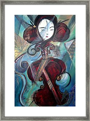 Framed Print featuring the painting Music Of My Life by Dorothy Maier