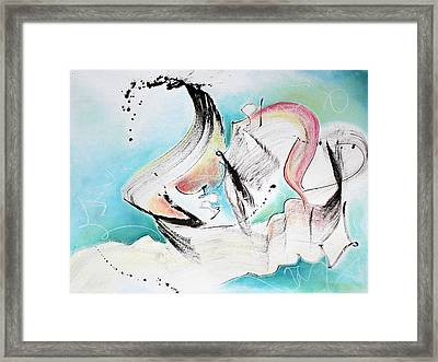 Music Of Sea Waves Framed Print by Asha Carolyn Young