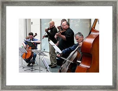 Music On The Street- Strings Framed Print