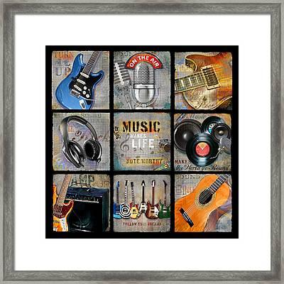 Music Patch Framed Print