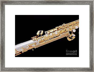 Music Photograph Of Soprano Saxophone In Color 3341.02 Framed Print