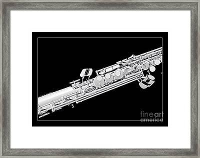 Music Photograph Of Soprano Saxophone In Sepia 3341.01 Framed Print