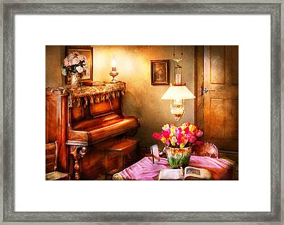 Music - Piano - The Music Room Framed Print by Mike Savad