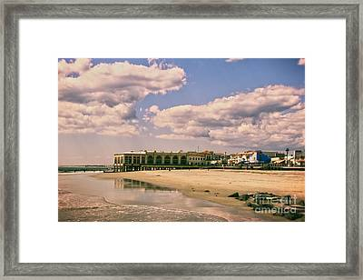 Music Pier From The Beach Framed Print by Tom Gari Gallery-Three-Photography