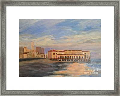 Music Pier Framed Print