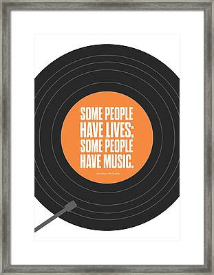 Music Quotes Typography Print Poster Framed Print by Lab No 4 - The Quotography Department