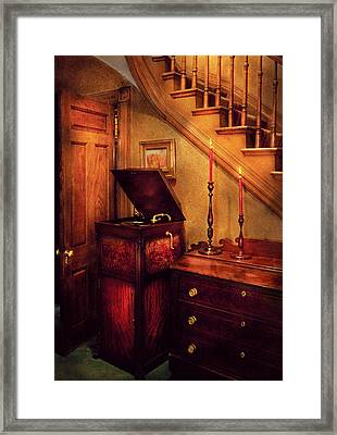 Music - Record - The Victrola Framed Print by Mike Savad