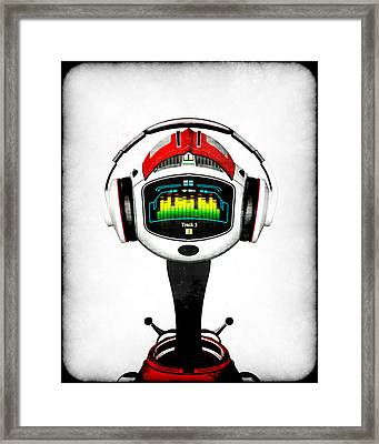 Music Roboto Framed Print by Frederico Borges