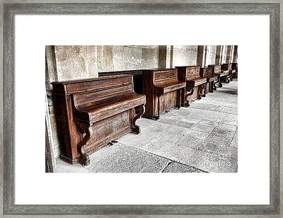 Music Row Framed Print by Olivier Le Queinec