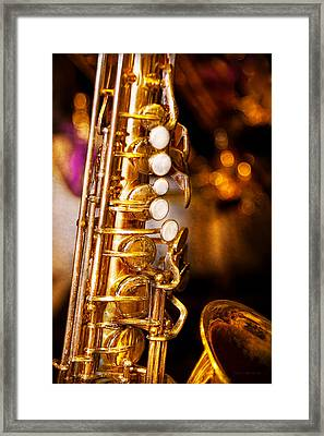 Music - Sax - Sweet Jazz  Framed Print by Mike Savad