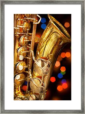 Music - Sax - Very Saxxy Framed Print by Mike Savad