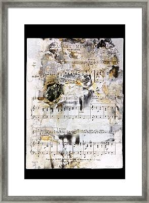 Music Score From The Titanic Framed Print by Science Photo Library