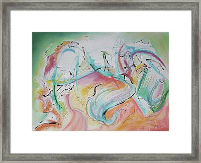 Music Spirits At Play In Brazil Framed Print by Asha Carolyn Young