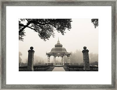 Music Stand In Fog Framed Print
