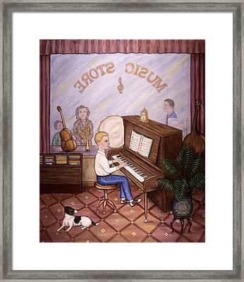 Music Store Framed Print