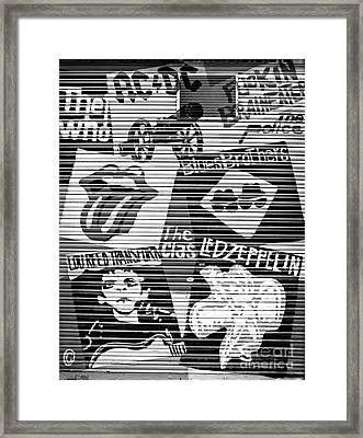 Music Street Art Framed Print by Luciano Mortula