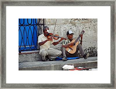 Music-street Musicians Framed Print