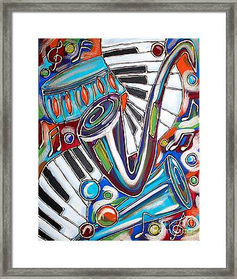 Music Time 2 Framed Print by Cynthia Snyder