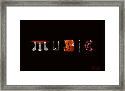 Music To Look At. Framed Print by Brian Jack