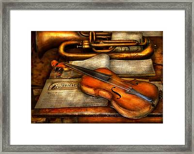Music - Violin - Played It's Last Song  Framed Print