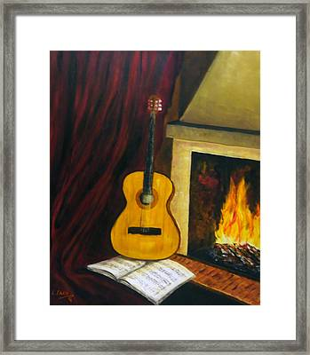 Music Warms The Soul Framed Print