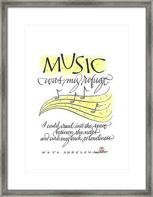 Music Was My Refuge Framed Print