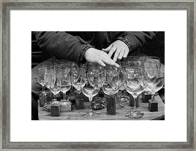 Music Water Glasses Framed Print