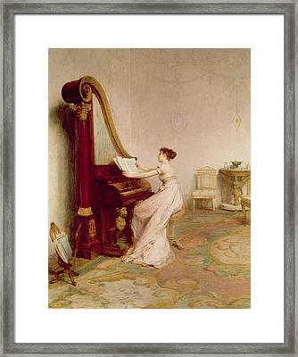 Music When Soft Voices Die, Vibrates Framed Print