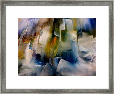 Framed Print featuring the painting Music With Paint by Lisa Kaiser
