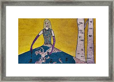 Music World By Jasna Gopic Framed Print by Jasna Gopic
