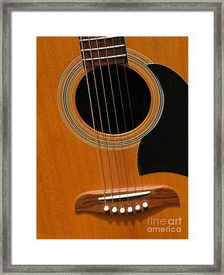 Framed Print featuring the photograph Musical Abstraction by Ann Horn