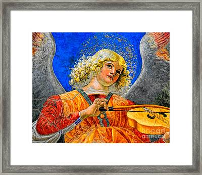Musical Angel Basking In The Light Of Heaven 2 Framed Print