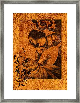 Musical Angel Framed Print by Sarah Vernon