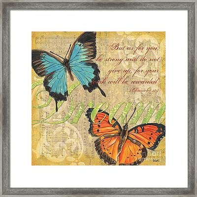 Musical Butterflies 1 Framed Print by Debbie DeWitt