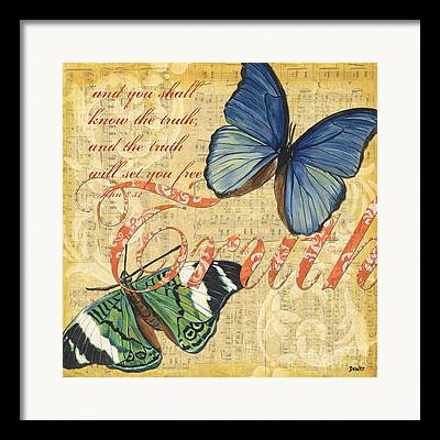 Yellow Butterfly Framed Prints